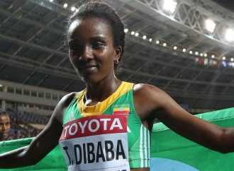 DIBABA COMPLETES DOUBLE AS SHE WINS 1500 METRE TITLE