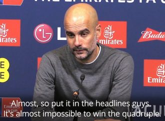 """PEP GUARDIOLA: """"IT IS ALMOST IMPOSSIBLE TO WIN THE QUADRUPLE"""